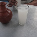 fresh toddy served from mud vessel