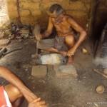 Traditional Blacksmith Gopalattan in his Workshop