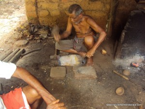 Traditional Blacksmith Gopalattan in his Workshop