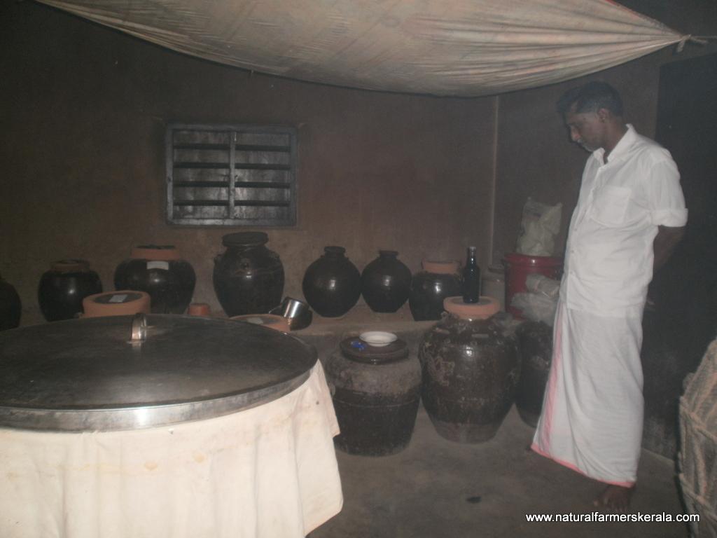 Medicine left for curing in mud vessel